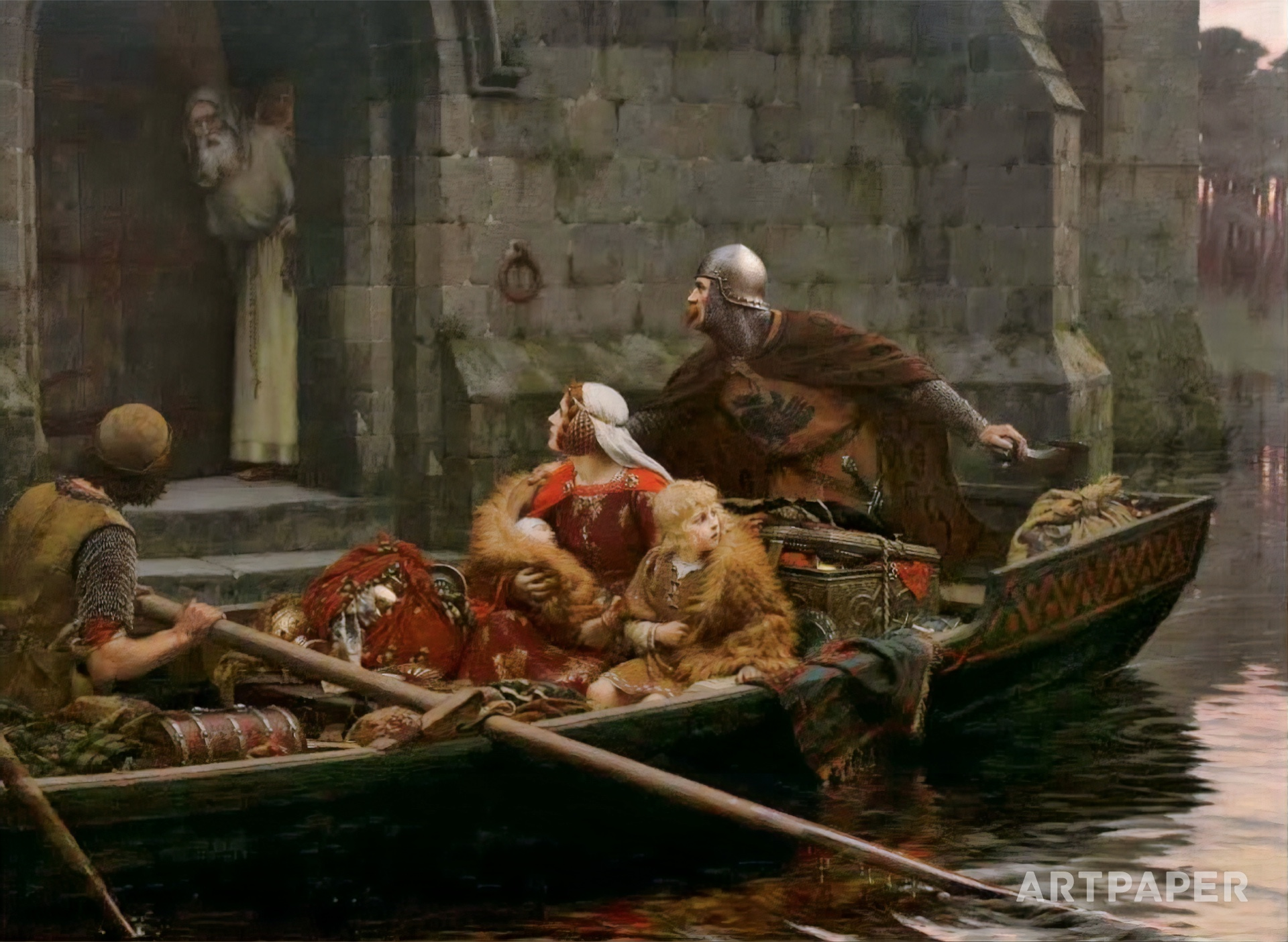 In Time of Peril by Edmund Blair Leighton | Artpaper