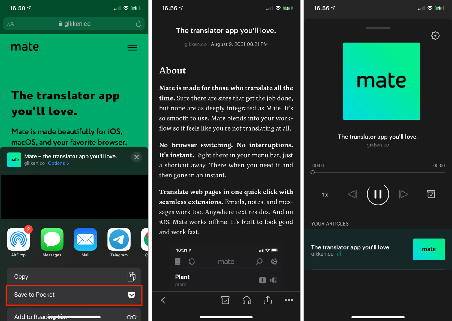 Pocket Screenshots